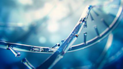 3d illustration of glass model of DNA molecule