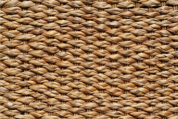 woven straw. Rattan closeup. background.