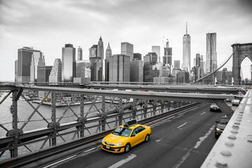 przejazd taksówką przez most Brooklyn