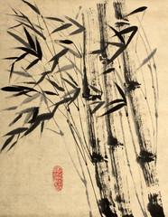 original drawing of bamboo
