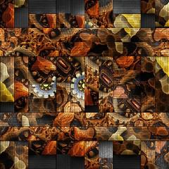 Scrambled fractal background