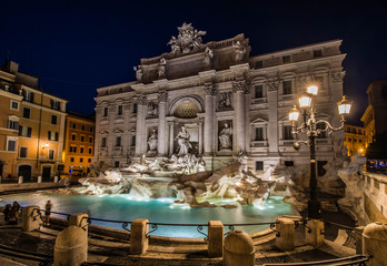 Trevi Fountain by night, Rome, Italy