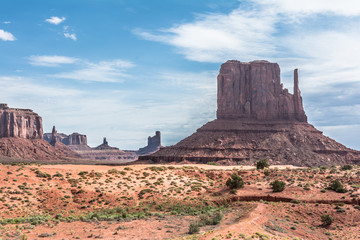 Buttes and mesas in Monument Valley, Arizona, Utah