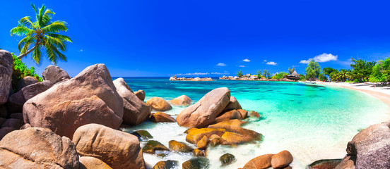 most beautiful tropical beaches - Seychelles ,Praslin island