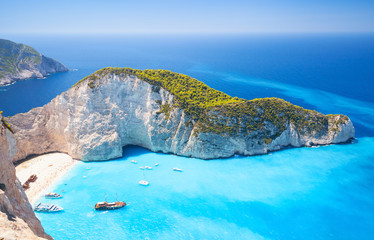 Zakynthos, grecka wyspa, zatoka Navagio