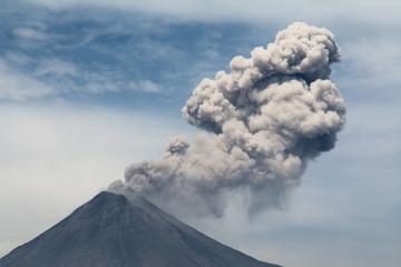 El volcán de Colima está muy activo ultimamente.