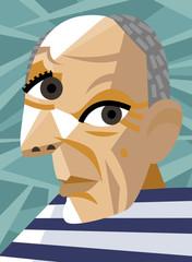 vector portrait painting