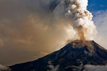 Tungurahua volcano eruption, Ecuador
