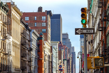 Manhattan Buildings Along an Avenue in SOHO, New York City