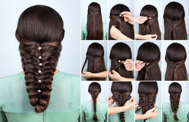 festive hairstyle for long hair tutorial