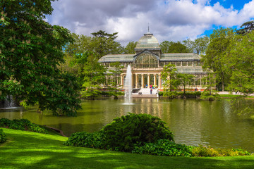 Crystal Palace (Palacio de cristal) in Retiro Park in Madrid, Spain