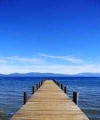 Steg am Lake Tahoe, Kalifornien, Nevada, USA