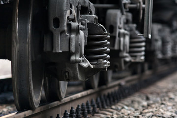 train wheels on rails