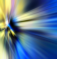 Abstract background in blue and yellow colors.