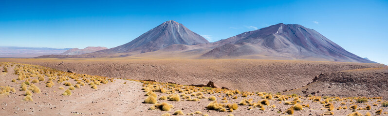 Licancabur Volcano on the border between Bolivia and Chile in the Atacama Desert of the Andes Range