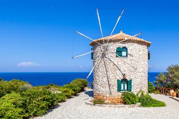 Traditional windmill, Zakynthos island, Greece