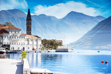 A quiet, small town of Perast in Montenegro.