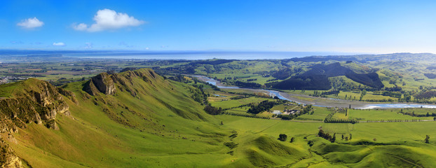 Panoramic view from Te Mata Peak, Hawkes Bay, New Zealand