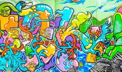 Graffiti aux couleurs vives
