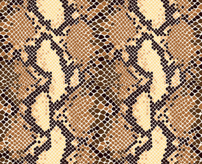 Snakeskin animal print seamless vector pattern.