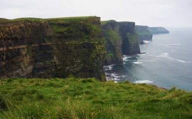 The Cliffs of Moher (Aillte an Moher) in County Clare, Ireland