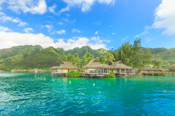 The Beautiful sea at Moorae Island in PAPEETE, FRENCH POLYNESIA
