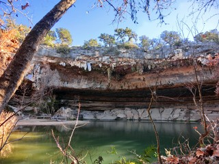 Hamilton Cave pool, near Austin, Texas