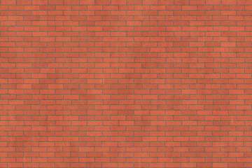 Background texture of red rough brick wall