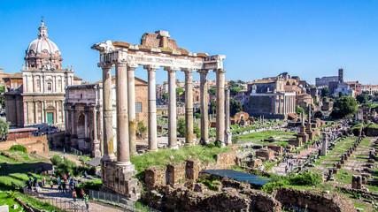 The Roman forum, Italy