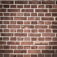 Red bricks wall background