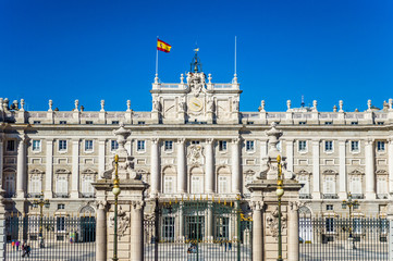 The Royal Palace of Madrid (Palacio Real de Madrid) - the official residence of the Spanish Royal Family at the city of Madrid, Spain