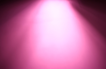 Top pink ray of light bokeh background