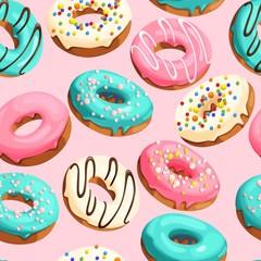 Glazed donuts seamless