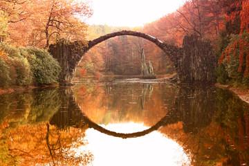 Rakotz Bridge (Rakotzbrucke, Devil's Bridge) in Kromlau, Germany