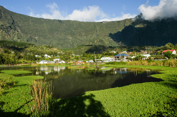 The lake at Cilaos on Reunion island