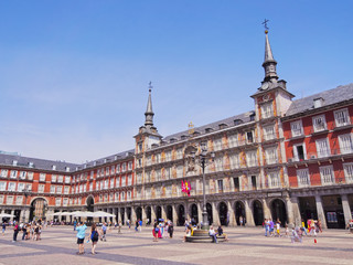 Spain, Madrid, View of the Plaza Mayor.
