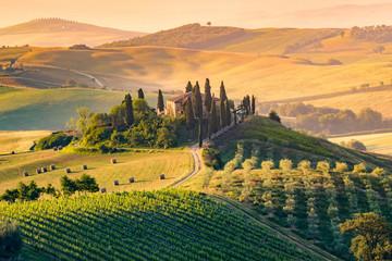Toskania, Włochy Krajobraz