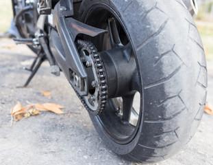 wheel on the bike