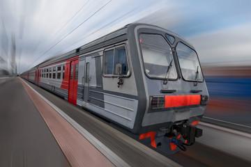 Local train in Russia