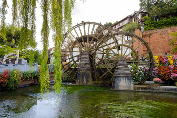 waterwheel, landmark of Lijing, China