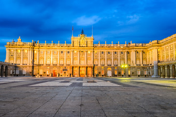Madrid, Spain - Royal Palace in night