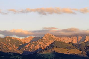 Allgäuer Berge - Alpenglühen