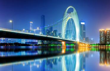Noc w mieście Guangzhou, Chiny