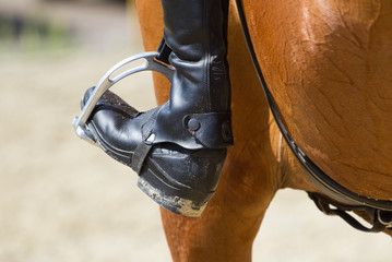 Jockey riding boot