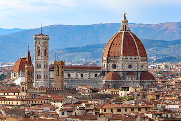 city of FLORENCE with the great dome of the Cathedral