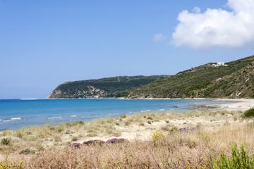 morze przed plażą Kaminia na Kefalonii