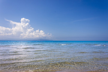 the sea in front of the Kaminia Beach in Kefalonia