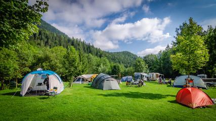 Campeggio in mezzo ai boschi in Austria