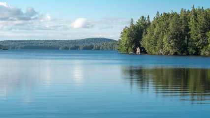 Cabin on a lake in Algonquin Provincial Park