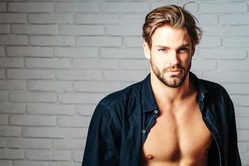 sexy handsome muscular man